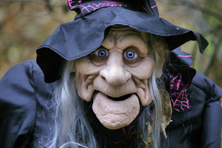 Witch's Chins Only For Halloween (denture Wearers)